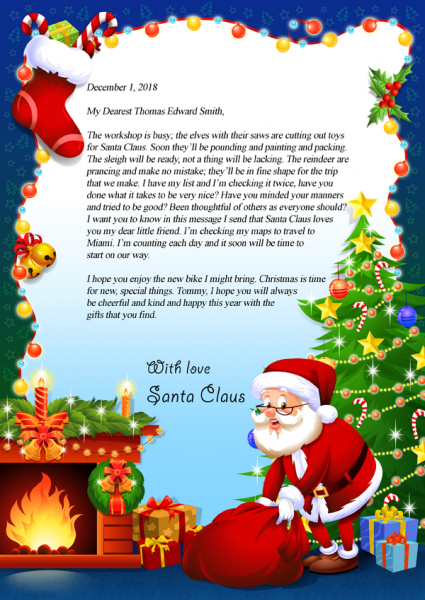 Letter from santa claus seemeinthestory letter from santa claus spiritdancerdesigns Images